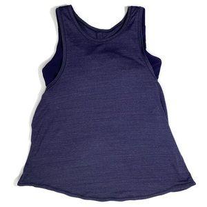 Lululemon purple tank with attached bra size 8